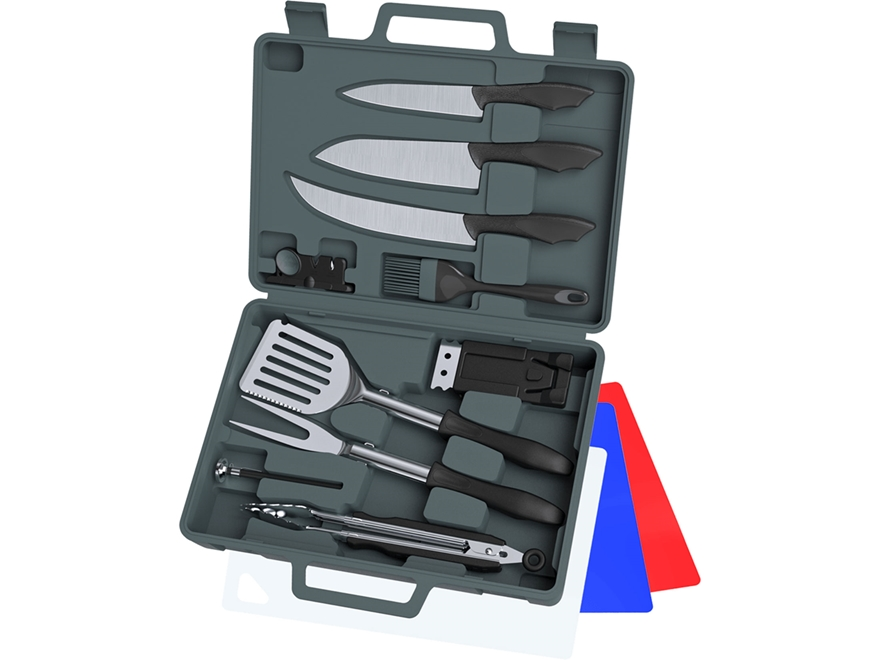 Outdoor Edge Cut-N-Que Pro 14 Piece Knife and Barbecue Kit