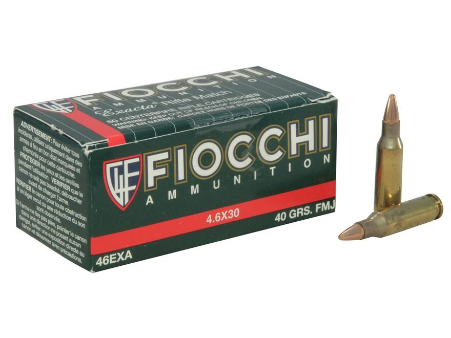 Fiocchi Ammunition 4.6x30mm HK 40 Grain Full Metal Jacket Box of 50