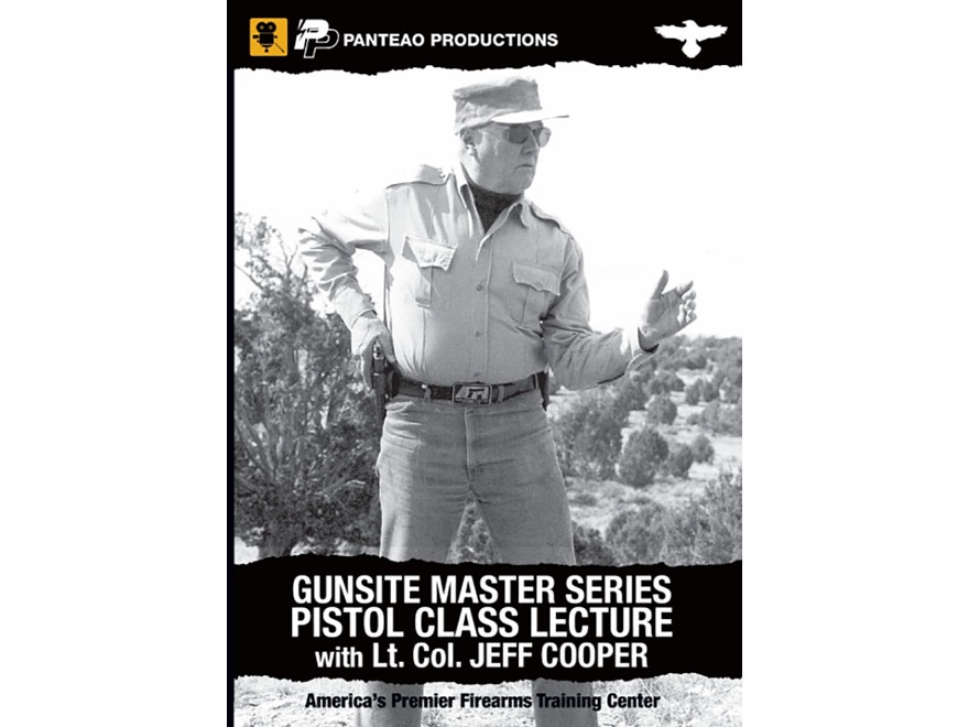 "Panteao ""Gunsite Master Series Pistol Class Lecture with Lt. Col Jeff Cooper"" DVD"