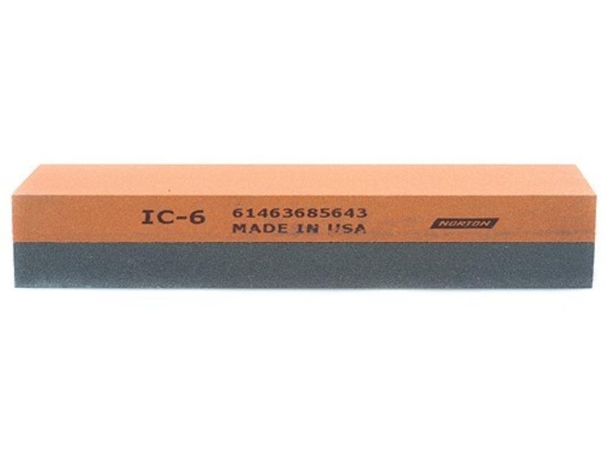 "Norton Crystolon-India 2-Sided Sharpening Stone 6"" x 2"" x 1"" Medium and Fine"