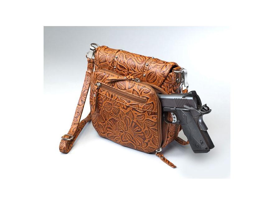 Gun Tote'n Mamas Simple Bling in Tooled Leather Shoulder Bag