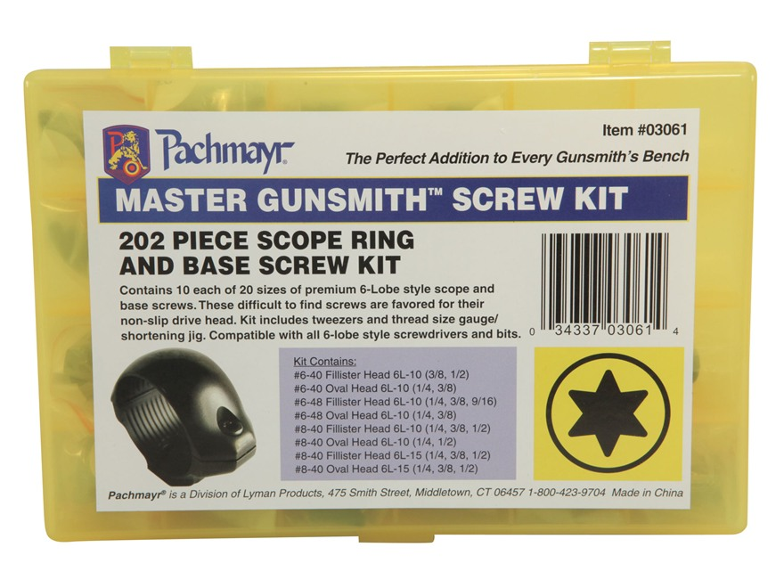 Pachmayr Master Gunsmith Torx Head Screw Kit Pack of 141