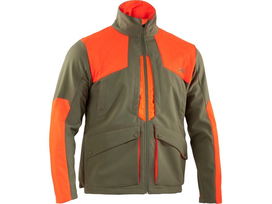 Under Armour Men's UA Prey Field General Softshell Jacket Polyester and Nylon Thyme and...