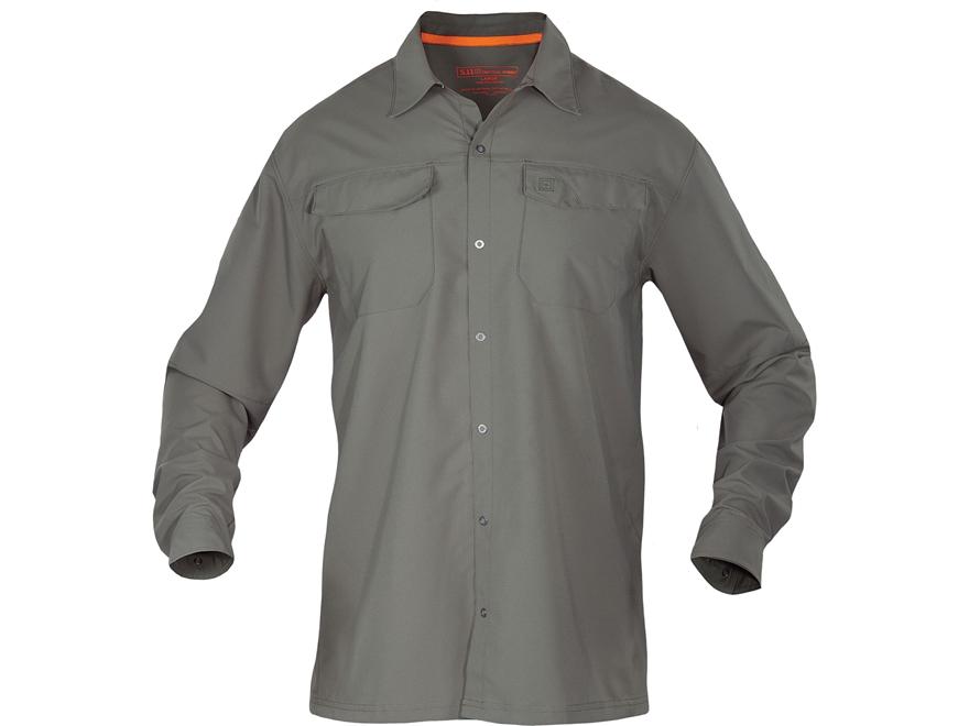 5.11 Men's Freedom Flex Shirt Long Sleeve Polyester Black Large