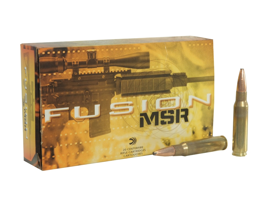 Federal Fusion MSR Ammunition 308 Winchester 150 Grain Spitzer Boat Tail