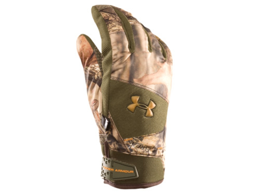 Under Armour Flex Waterproof Insulated Gloves Polyester Mossy Oak Break-Up Infinity Cam...