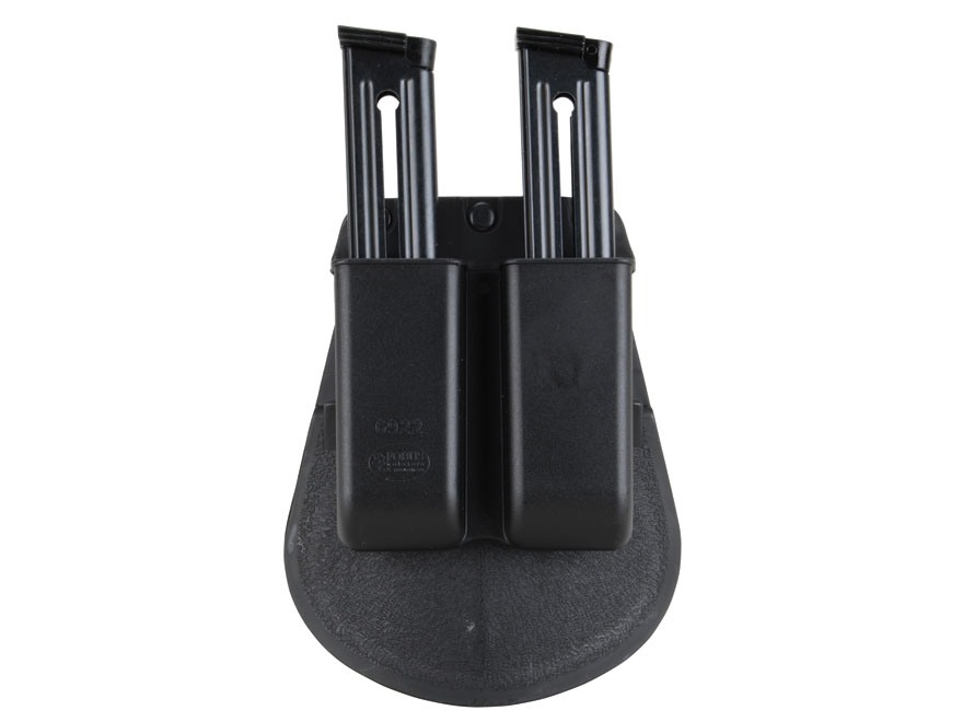 Fobus Paddle Double Magazine Pouch Single Stack 22, 380 and 32 ACP Magazine Polymer Black