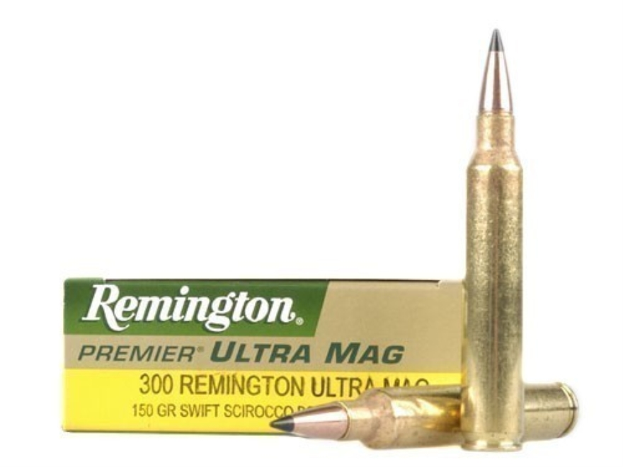 Remington Premier Ammunition 300 Remington Ultra Magnum 150 Grain Swift Scirocco 2 Poly...