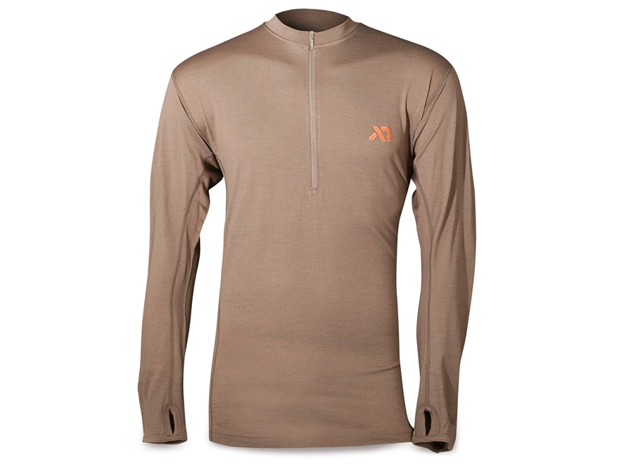 First Lite Men's Llano QZ 1/4 Zip Long Sleeve Base Layer Shirt Merino Woll