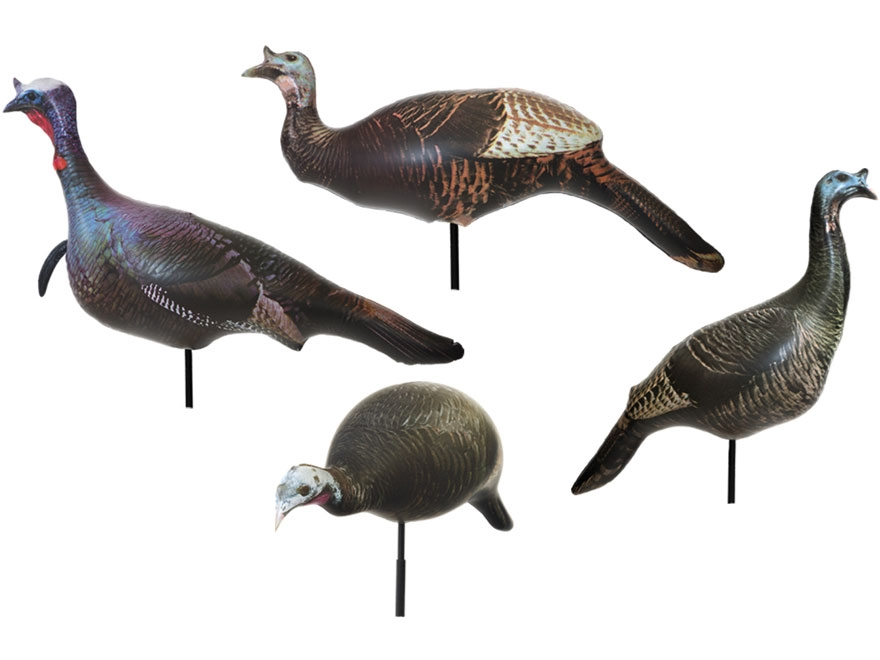 Cherokee Sports Ultimate Flock Turkey Decoys Pack of 4