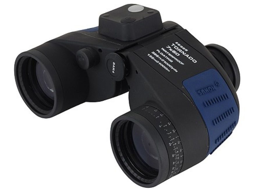 Konus Tornado Marine Floating Binocular 7x 50mm Porro Prism with Illuminated Compass an...