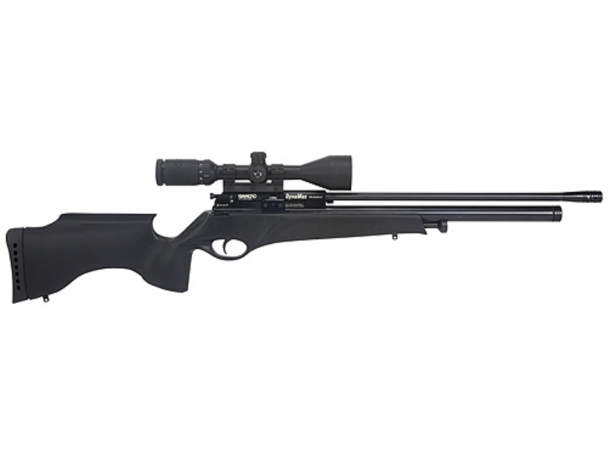Gamo Dynamax Multishot PCP Air Rifle 22 Caliber Black Synthetic Stock Blue Barrel with ...
