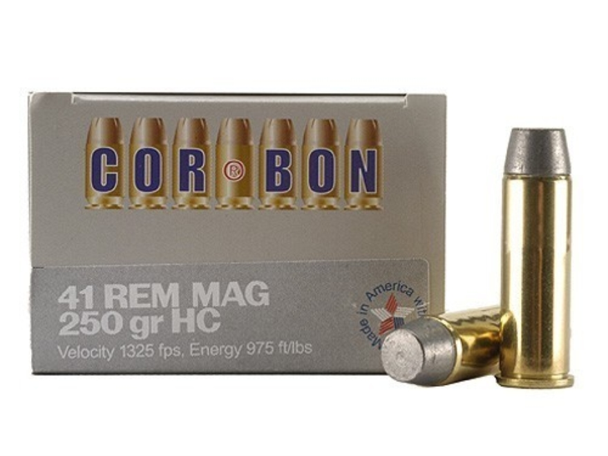 Cor-Bon Hunter Ammunition 41 Remington Magnum 250 Grain Hard Cast Lead Flat Point Box o...