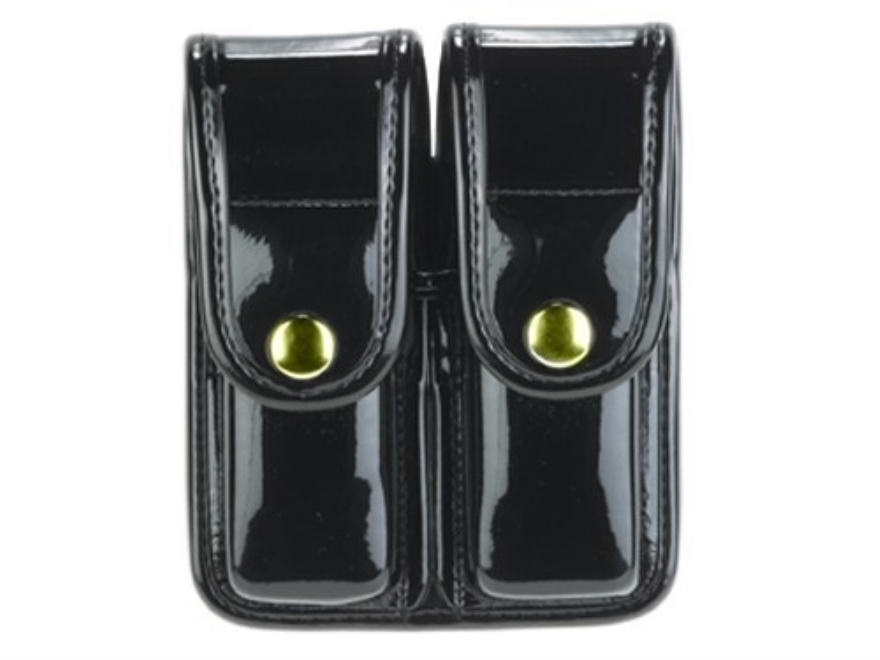 Bianchi 7902 AccuMold Elite Double Magazine Pouch Single Stack 9mm, 45 ACP Brass Snap T...
