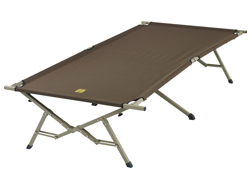 "Slumberjack Big Cot 40"" x 86"" x 20"" Steel Frame Polyester Top Brown"