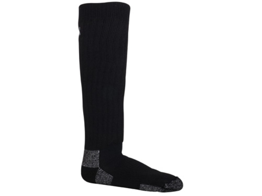 Under Armour Men's UA Scent Control Over the Calf Socks Polyester Wool Blend Black Larg...