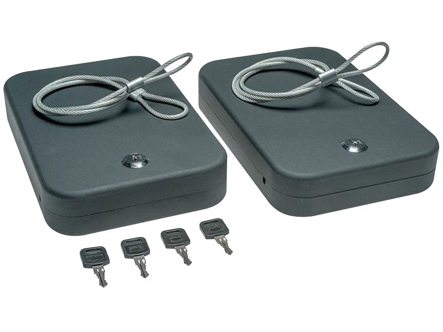 SnapSafe Lockbox 2-Pack with Keyed Alike Lock Black