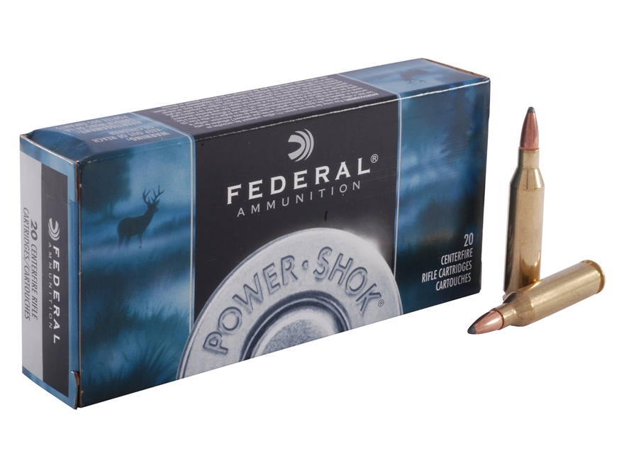 Federal Power-Shok Ammunition 243 Winchester 80 Grain Speer Hot-Cor Soft Point Box of 20