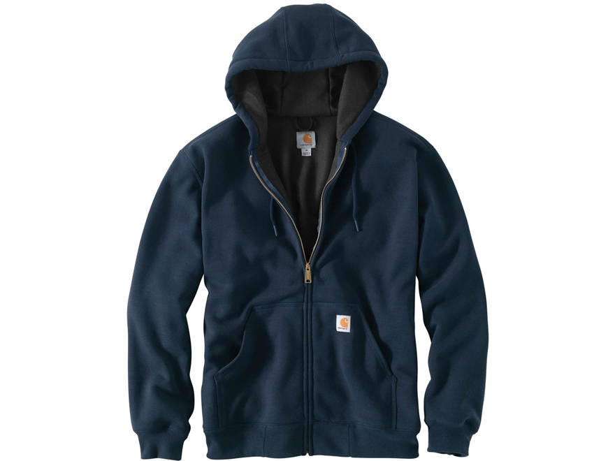 Carhartt Men's Rain Defender Rutland Thermal-Lined Zip-Front Hooded Sweatshirt Cotton/P...