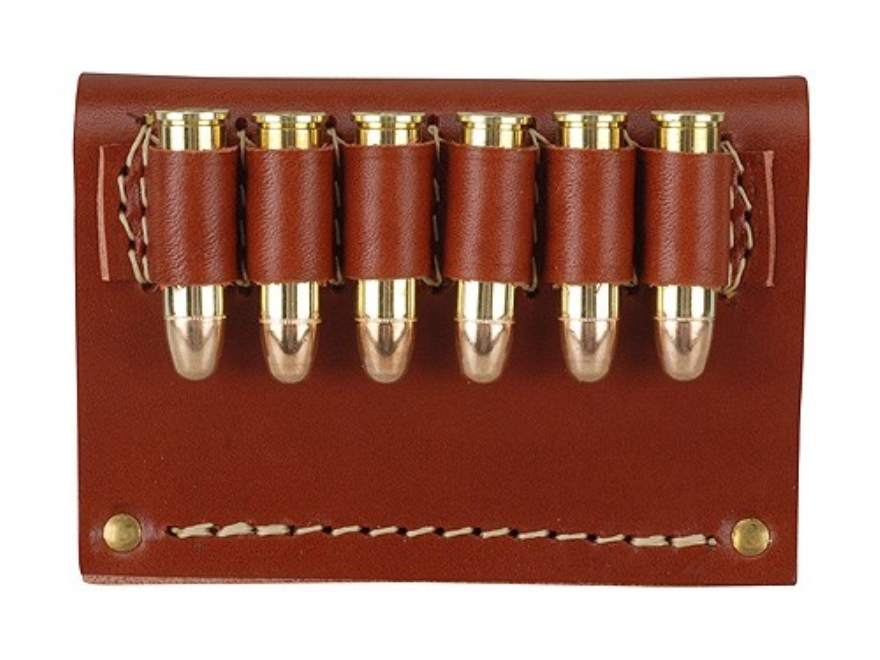 Hunter Cartridge Belt Slide Pistol Ammunition Carrier Leather Brown