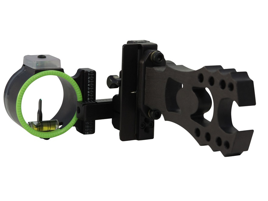 "Black Gold Ascent Ambush 1-Pin Bow Sight .019"" Pin Diameter Right Hand Aluminum Black"