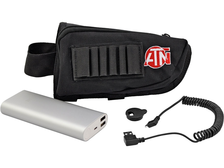 ATN Extended Life Battery Pack 16,000 mAh with MicroUSB Cable, Cap, Buttstock Case