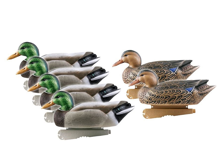 GHG Over-Size Mallard Duck Decoy Pack of 6