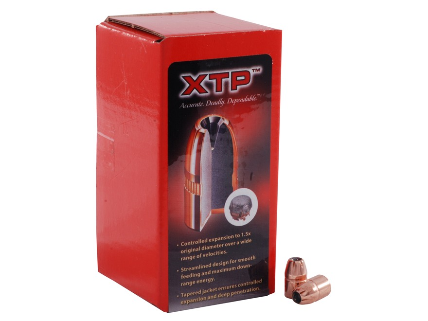 Hornady XTP Bullets 38 Caliber (357 Diameter) 140 Grain Jacketed Hollow Point Box of 100