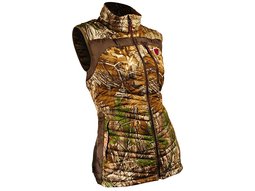 ScentBlocker Women's SOLA Thermic Insulated Vest Polyester Realtree Xtra Camo Large