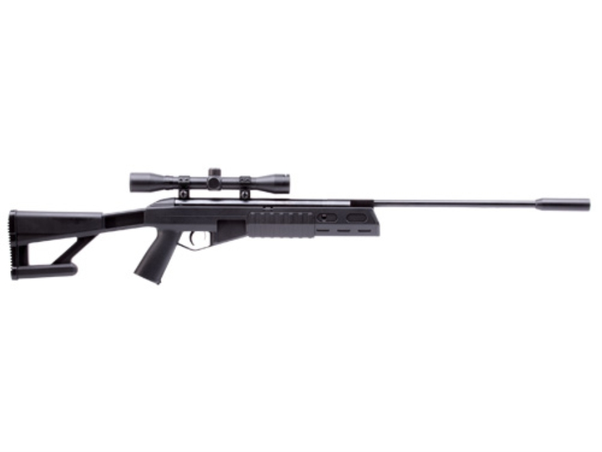 Crosman TR77 Air Rifle 177 Caliber Pellet with 4x32mm Scope Black Polymer Stock Matte B...