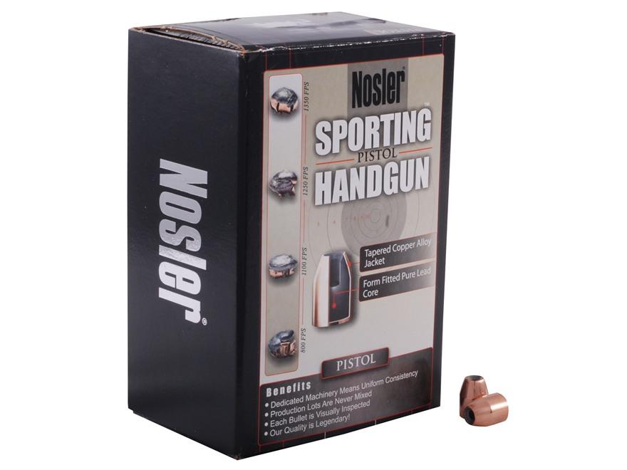 Nosler Sporting Handgun Bullets 40 S&W, 10mm Auto (400 Diameter) 150 Grain Jacketed Hol...