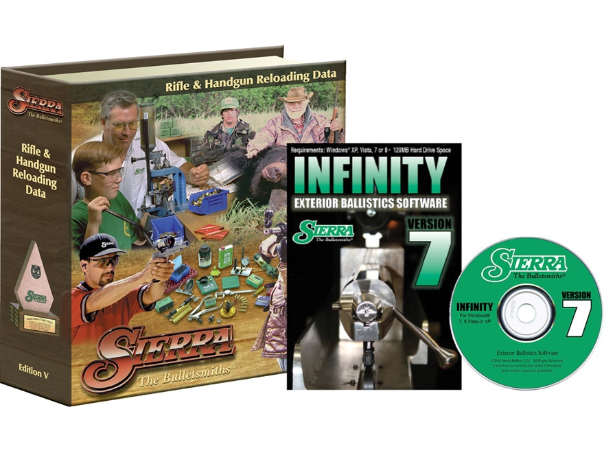 """Sierra """"Infinity Exterior Ballistic Software Version 7"""" CD-ROM and """"5th Edition Manual""""..."""