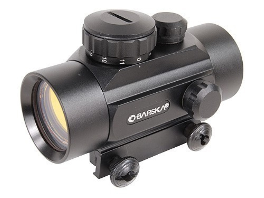 Barska Red Dot Sight 30mm Tube 1x 3-Dot Crossbow Reticle with Integral Weaver-Style Mou...