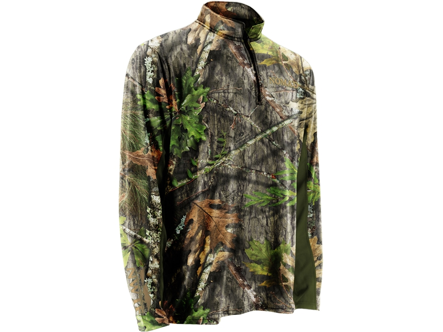 Nomad Men's NWTF 1/4 Zip Cooling T-Shirt Long Sleeve Polyester