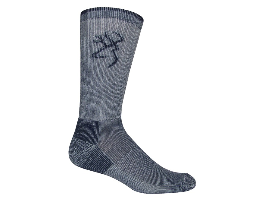 Browning Men's Everyday Midweight Crew Socks Merino Wool Blend Large (9-13) 1 Pair