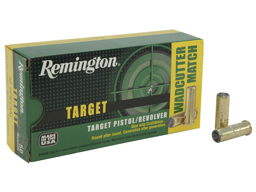 Remington Target Ammunition 38 Special 148 Grain Lead Target Master Wadcutter Box of 50