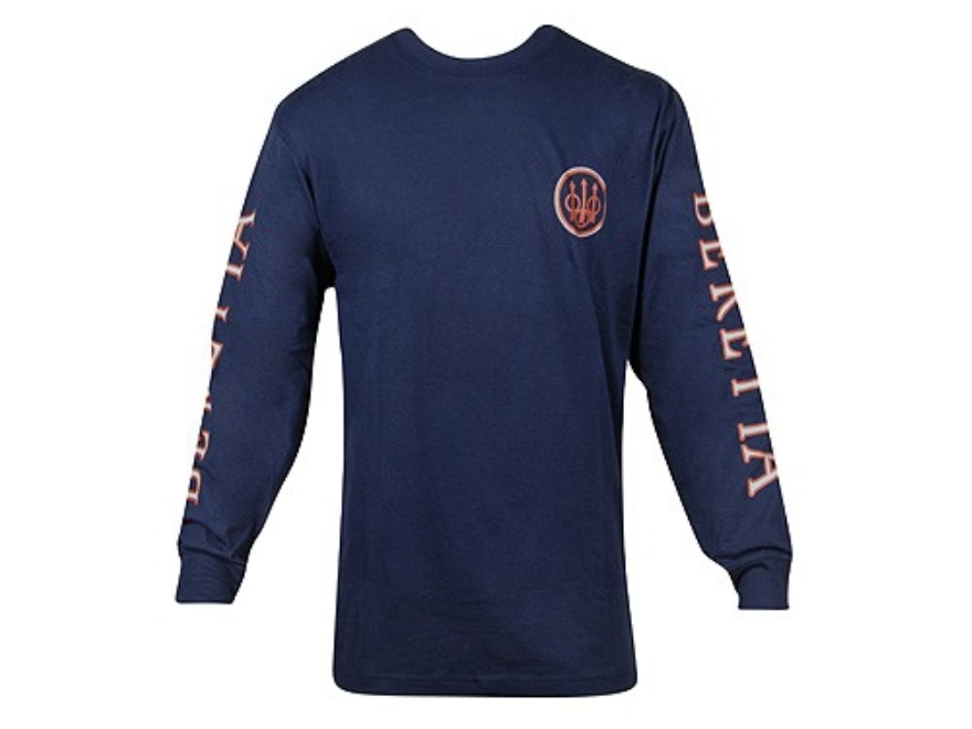 Beretta Men's Double Logo Shirt Long Sleeve Cotton - UPC: 082442753782