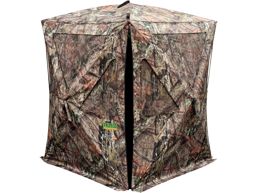 "Primos The Club XL Ground Blind 58"" x 58"" x 73"" Dura Matte Fabric Mossy Oak Break Up Co..."