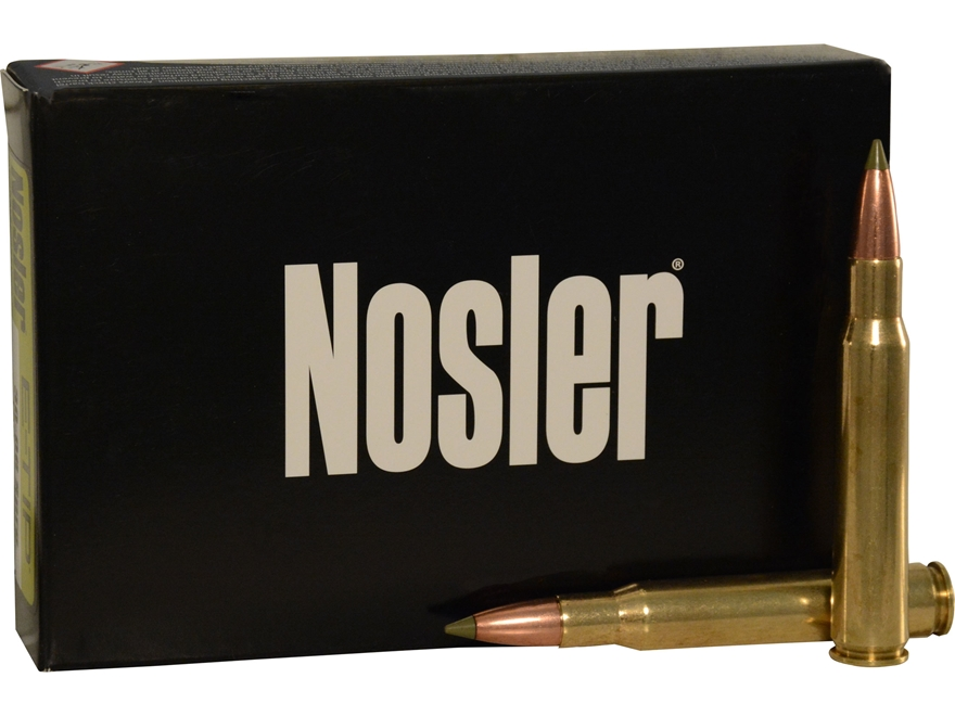Nosler E-Tip Ammunition 30-06 Springfield 180 Grain E-Tip Lead-Free Box of 20