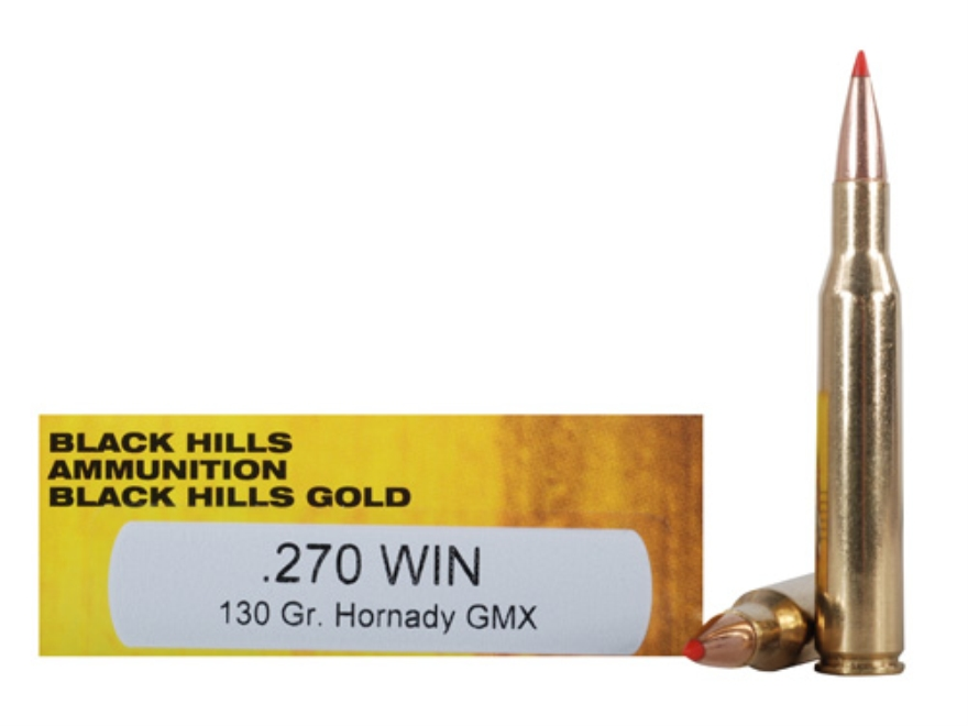 Black Hills Gold Ammunition 270 Winchester 130 Grain Hornady GMX Lead-Free Box of 20