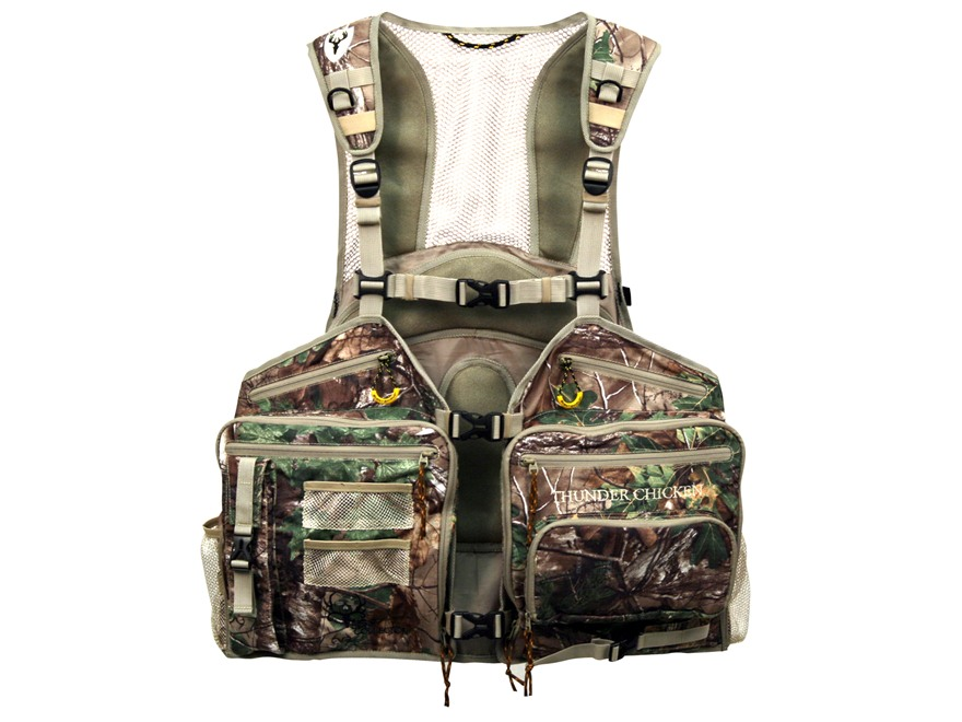 ScentBlocker Thunder Chicken Turkey Vest Polyester Realtree Xtra Camo XL/2XL