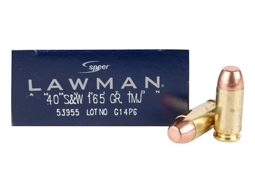 Speer Lawman Ammunition 40 S&W 165 Grain Total Metal Jacket