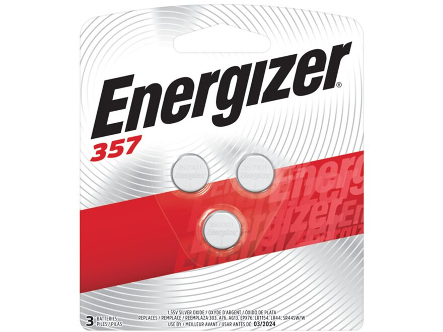 Energizer Battery 357 1.5 Volt Silver Oxide