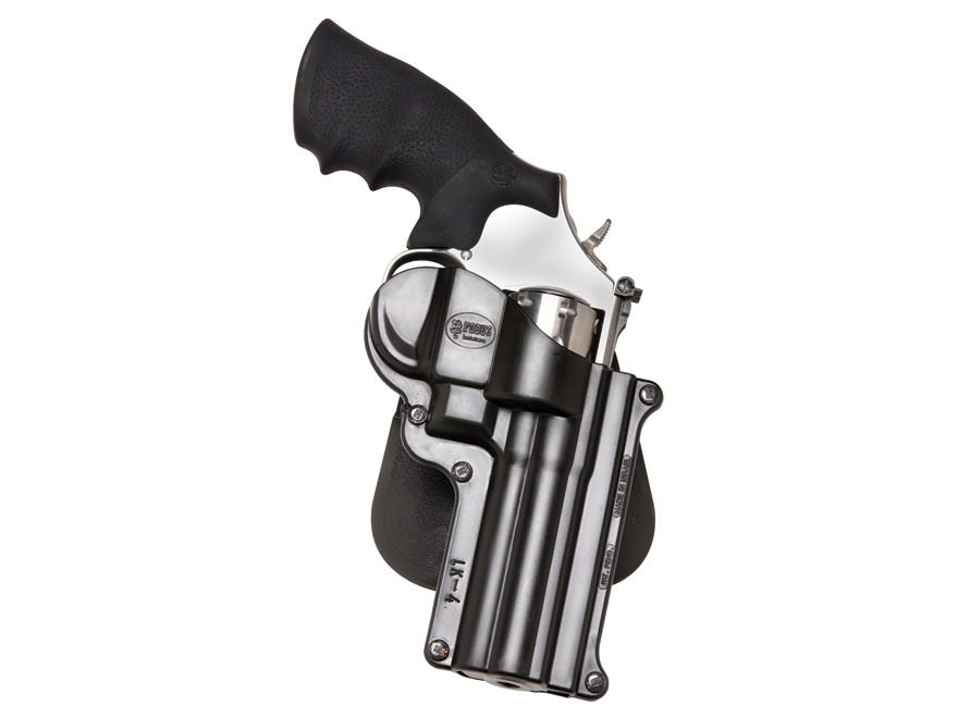 "Fobus Paddle Holster Right Hand S&W K, L-Frame, Taurus 65, 66, 431 4"" Barrel Polymer Black"