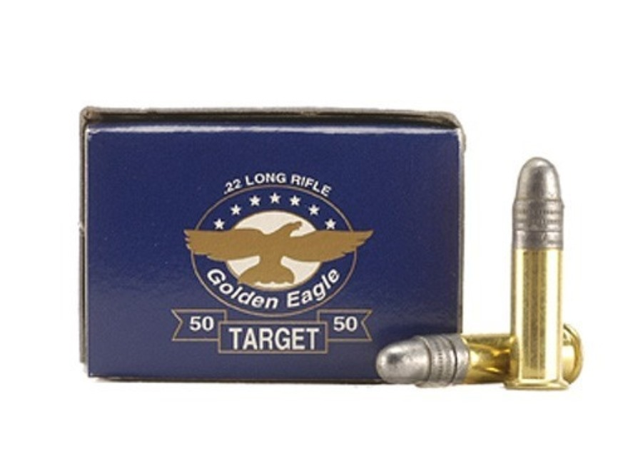 Aguila Target Ammunition 22 Long Rifle 40 Grain Lead Round Nose Box of 50