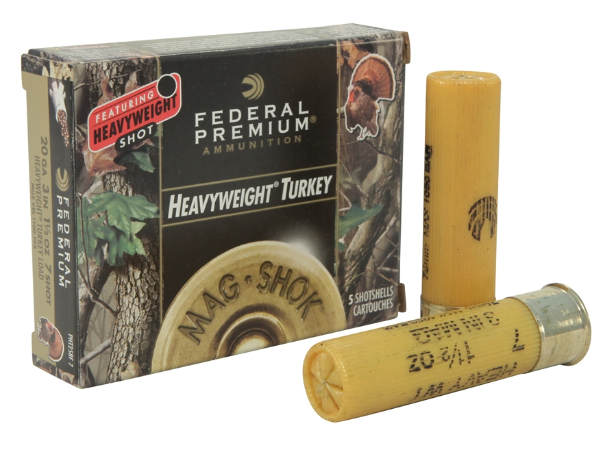 "Federal Premium Mag-Shok Turkey Ammunition 20 Gauge 3"" 1-1/2 oz #7 Heavyweight Non-Toxi..."