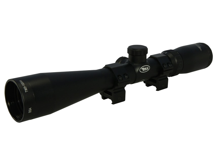 BSA Tactical Weapon Rifle Scope 30mm Tube 3.5-10x 40mm Mil-Dot Reticle Matte with Weave...