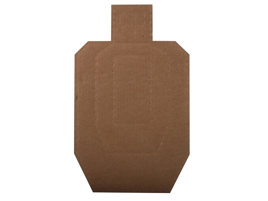 MidwayUSA Official USPSA Target 1/2 Size Cardboard Package of 100