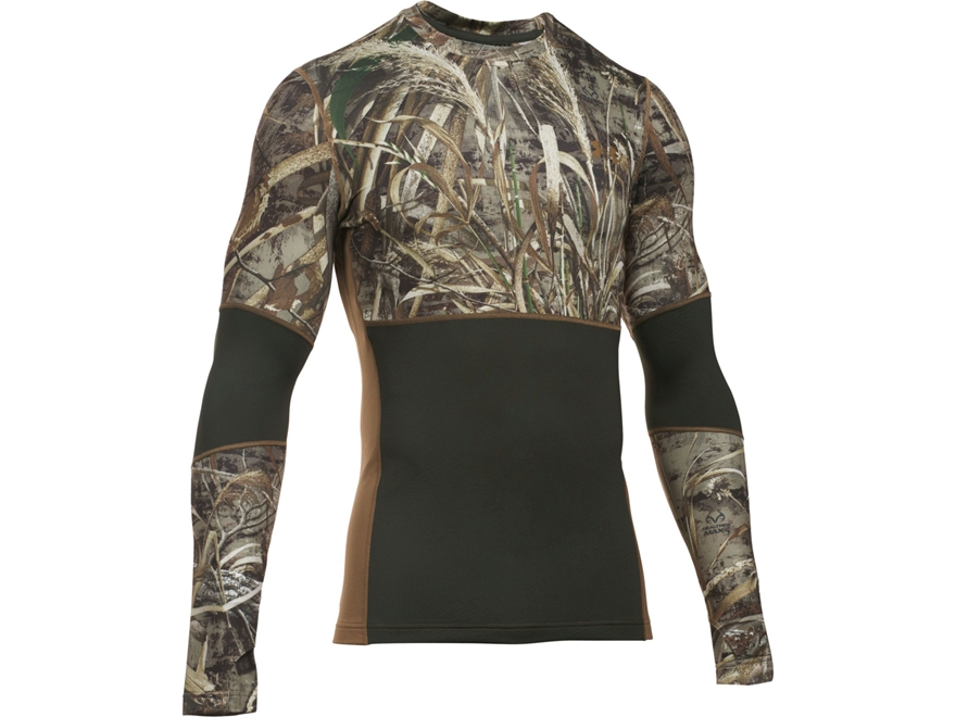 Under Armour Men's UA ColdGear Infrared Scent Control Tevo Base Layer Crew Shirt Long S...
