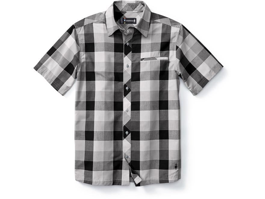 Smartwool Men's Everyday Exploration Retro Plaid Button-Up Shirt Short Sleeve Merino Wo...